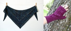 shawl and mitts